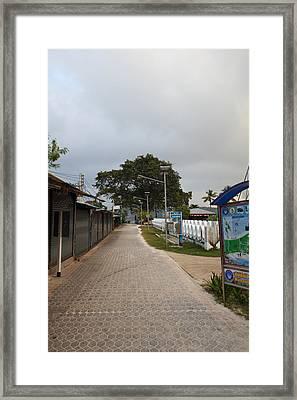 Street Scene - Phi Phi Island - 01132 Framed Print by DC Photographer