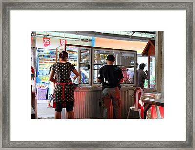 Street Scene - Phi Phi Island - 01135 Framed Print by DC Photographer