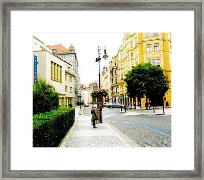 Street Scene Prague Framed Print