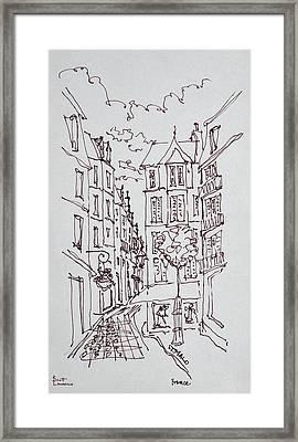 Street Scene, Saint-malo, Brittany Framed Print