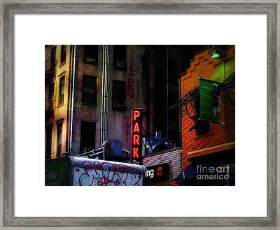 Graffiti And Grand Old Buildings Framed Print by Miriam Danar