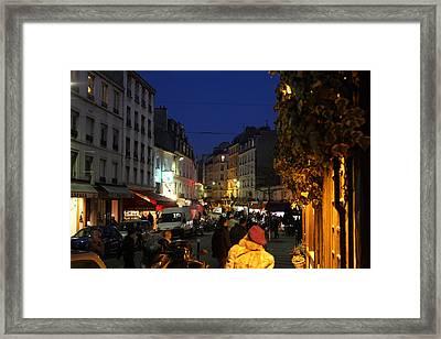 Street Scenes - Paris France - 011314 Framed Print
