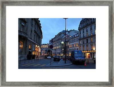 Street Scenes - Paris France - 011331 Framed Print