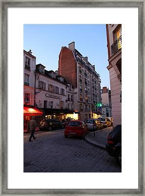 Street Scenes - Paris France - 01134 Framed Print by DC Photographer