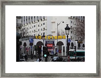 Street Scenes - Paris France - 011343 Framed Print by DC Photographer