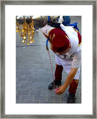 Street Seller Selling Refreshing Pomme Grenade Apple Juice Istanbul Turkey Framed Print by PIXELS  XPOSED Ralph A Ledergerber Photography