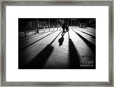 Street Shadow Framed Print