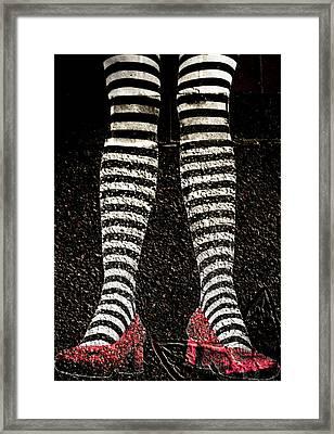 Street Shoes Framed Print