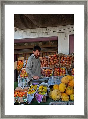Street Side Fruit Vendor Islamabad Pakistan Framed Print by Imran Ahmed