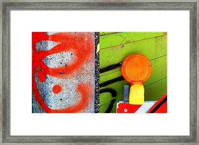 Street Sights 5 Framed Print by Marlene Burns