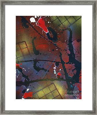 Framed Print featuring the painting Street Spirit by Roz Abellera Art