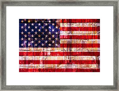 Street Star Spangled Banner Framed Print by Delphimages Photo Creations