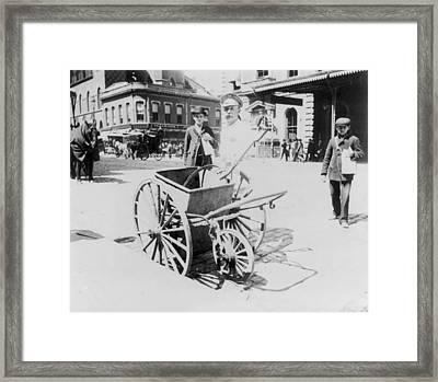 Street Sweeper, C1896 Framed Print by Granger