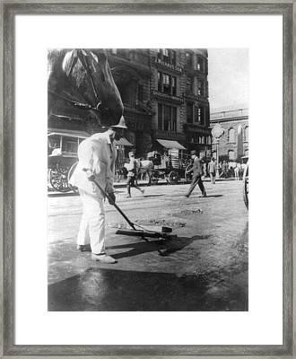 Street Sweeper, C1910 Framed Print by Granger