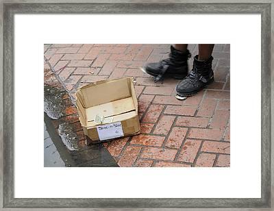 Street Tap Dancing On Bourbon Street Framed Print