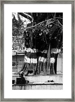 Street Tea Stall Framed Print by Money Sharma