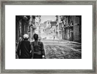 Street Theater Framed Print