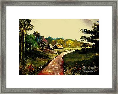 Street  To Countryside Framed Print