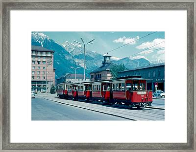 Street Train Innsbruck 1962 Framed Print by Cumberland Warden