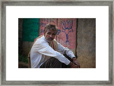 Street Vendor - India Framed Print by Matthew Onheiber