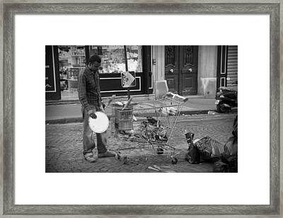 Street Vendor Framed Print
