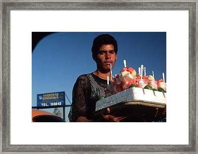 Street Vendor Framed Print by Mark Goebel