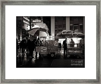 Street Vendor Row Framed Print