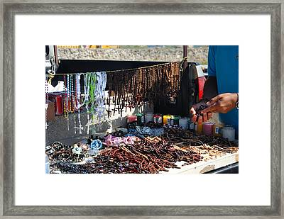 Street Vendor Selling Rosaries Framed Print