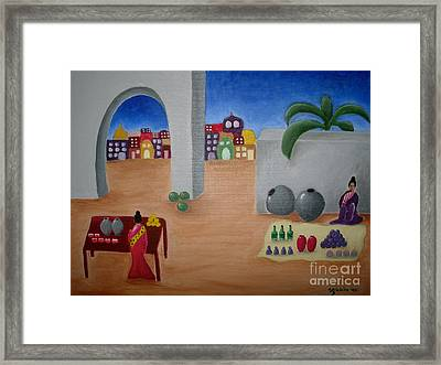 Street Vendors Framed Print by Victoria Lakes