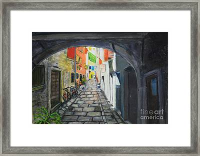 Street View 2 From Pula Framed Print