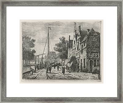 Street View, Eberhard Cornelis Rahms Framed Print by Eberhard Cornelis Rahms