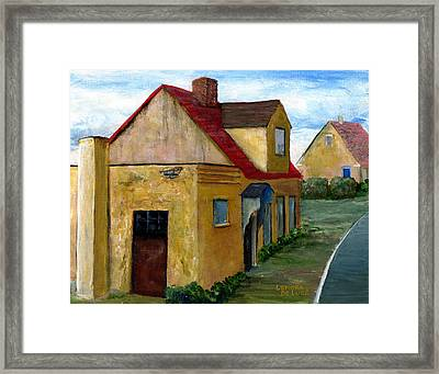 Street View In Zealand Framed Print