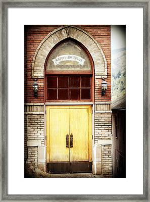 Street View Framed Print by Melanie Lankford Photography