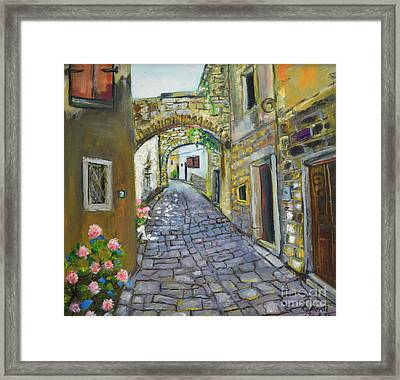 Street View In Pula Framed Print