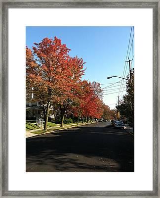 Street View Staten Island Framed Print