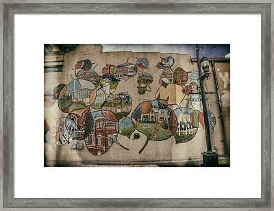 Street Wall In Fort Collins Framed Print by Lijie Zhou