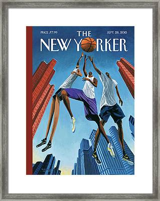 Streetball Framed Print by Mark Ulriksen