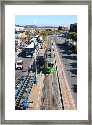 Streetcar At Pier 39 San Francisco California 5d26073 Framed Print