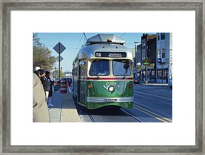Streetcar In Philadelphia Framed Print by Eric Miller