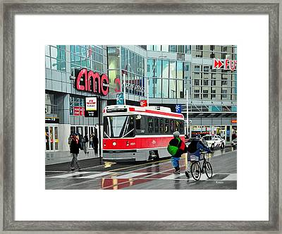 Streetcar On Dundas Framed Print by Kenneth M  Kirsch