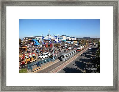 Streetcars At Pier 39 San Francisco California 5d26054 Framed Print
