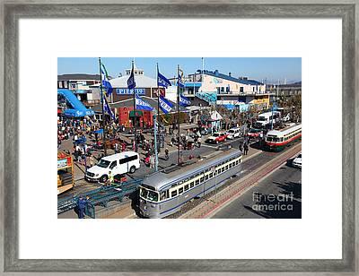 Streetcars At Pier 39 San Francisco California 5d26055 Framed Print