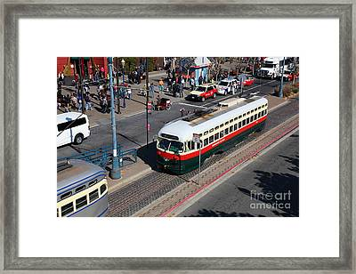 Streetcars At Pier 39 San Francisco California 5d26060 Framed Print