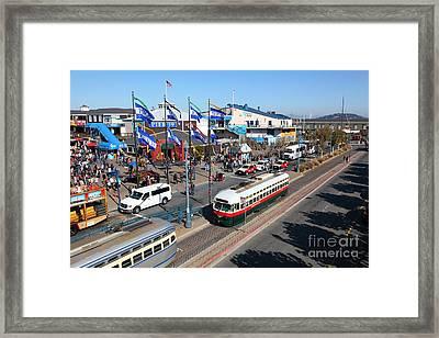 Streetcars At Pier 39 San Francisco California 5d26062 Framed Print