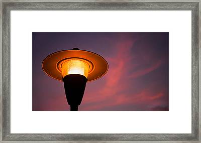 Streetlamp Framed Print