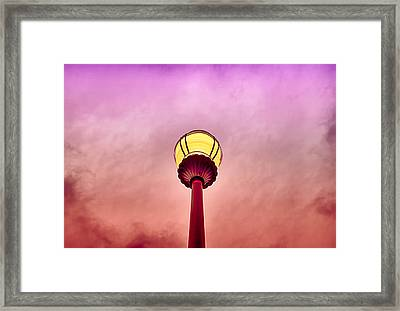 Streetlight And Clouds Framed Print by J Riley Johnson