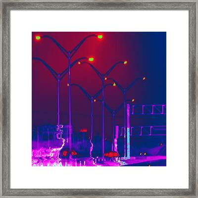 Streetlight Serenade 1 Framed Print