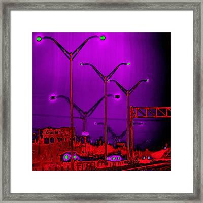 Streetlight Serenade 6 Framed Print by Wendy J St Christopher