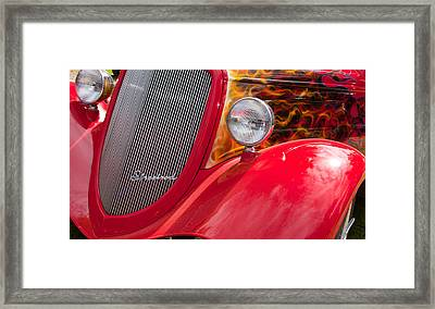 Framed Print featuring the photograph Streetrod Red by Mick Flynn