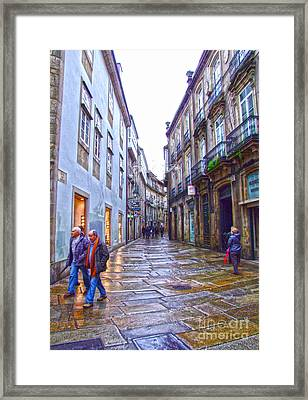 Streets And People Framed Print by Andrew Middleton